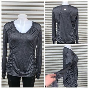 Tangerine gray long sleeve active wear top